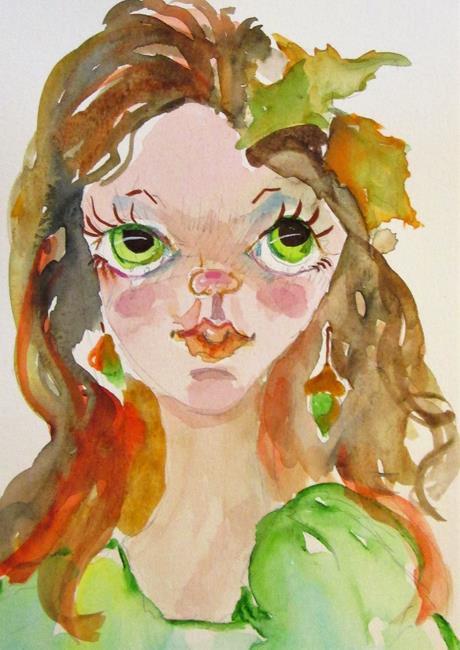 Art: Fall Fairy No. 3 by Artist Delilah Smith