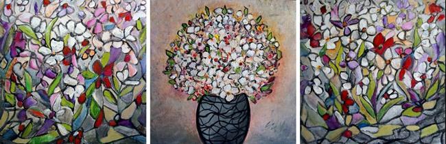 Art: Flowers Bouquet set by Artist LUIZA VIZOLI