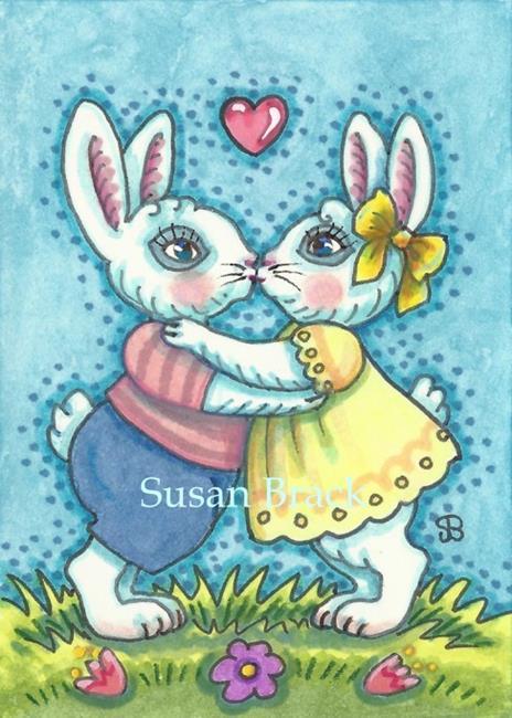 Art: KISSING COUSINS by Artist Susan Brack