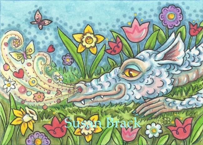 Art: BREATH OF SPRING DRAGON by Artist Susan Brack