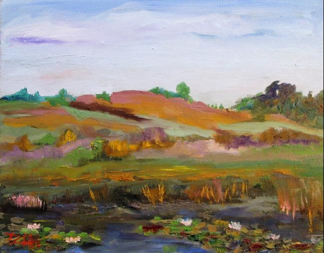 Art: Lily Pond No. 14 by Artist Delilah Smith