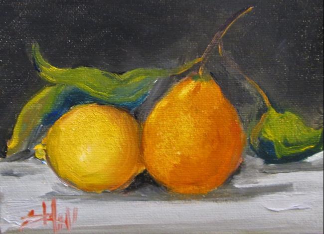 Art: Orange and Lemon Still Life by Artist Delilah Smith