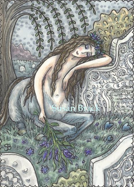 Art: CENTAUR CEMETERY by Artist Susan Brack
