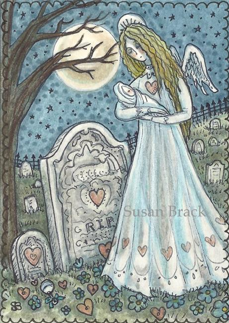 Art: IN THE ARMS OF AN ANGEL by Artist Susan Brack
