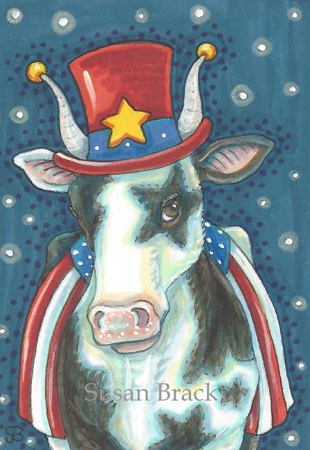 Art: AMERICAN MOO by Artist Susan Brack