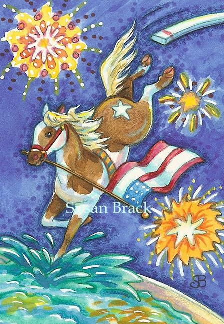Art: 4TH OF JULY ON CHINCOTEAGUE ISLAND by Artist Susan Brack