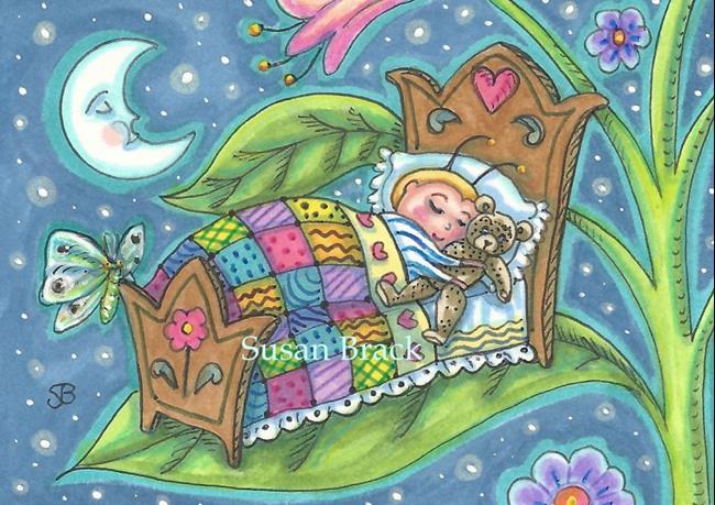 Art: BABY BED BUGS SLEEP TIGHT by Artist Susan Brack