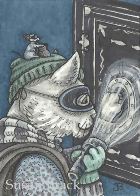 Art: CAT BURGLAR AND ACCOMPLICE by Artist Susan Brack