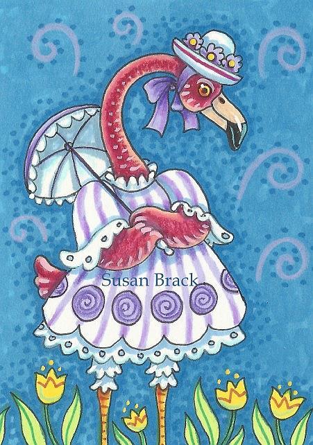 Art: EASTER STROLL by Artist Susan Brack