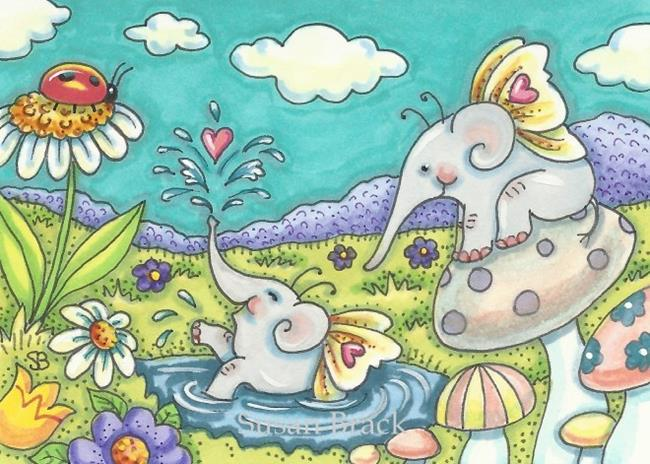 Art: ELEFAIRIES Elephants by Artist Susan Brack