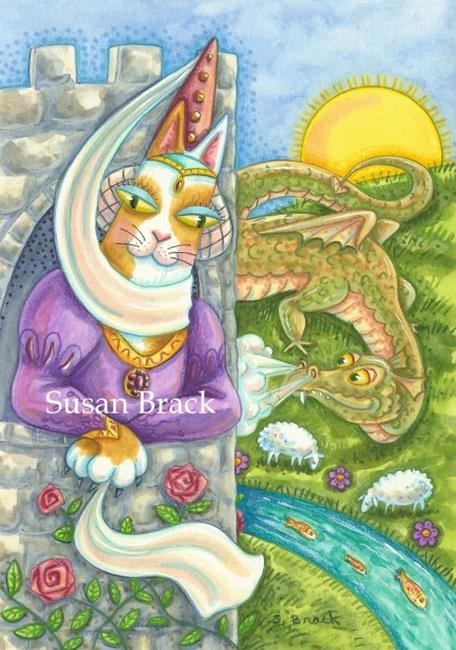 Art: HISS N' FITZ CAT - A DAY IN THE LIFE OF A DAMSEL IN DISTRESS by Artist Susan Brack