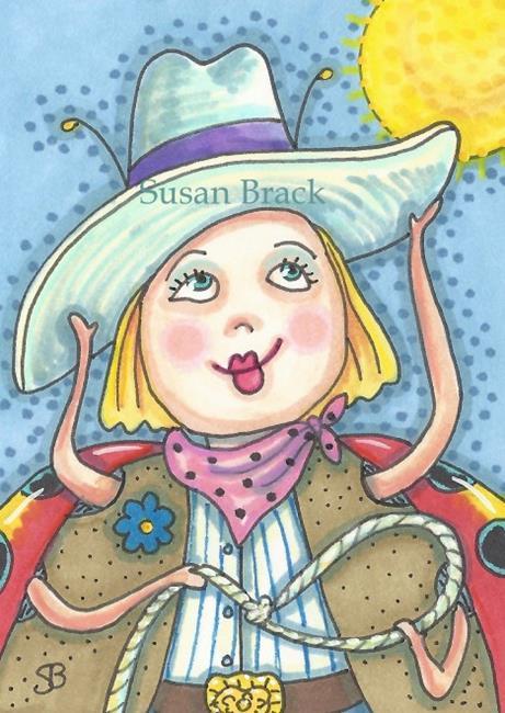 Art: LADYBUG DUDE RANCH by Artist Susan Brack