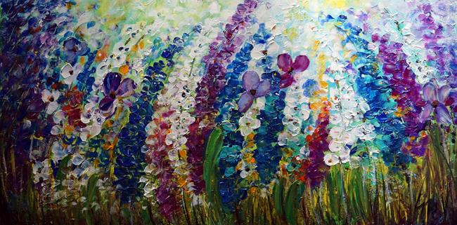 Art: Summer Mist Flowers by Artist LUIZA VIZOLI