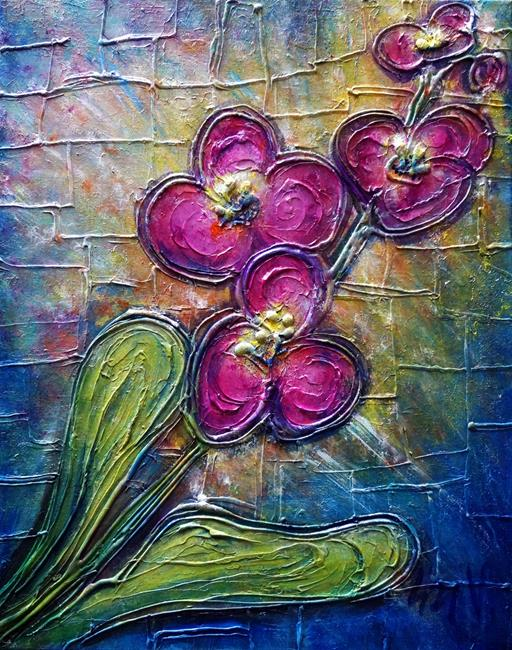 Art: THE PURPLE ORCHID by Artist LUIZA VIZOLI