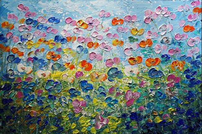 Art: Blooming Wild Flowers by Artist LUIZA VIZOLI