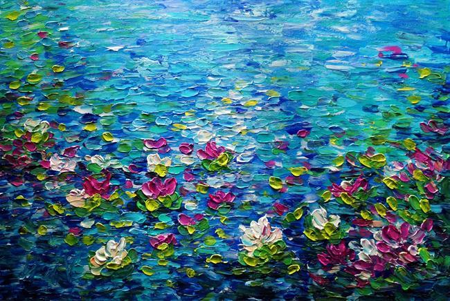 Art: The Lily Pond by Artist LUIZA VIZOLI