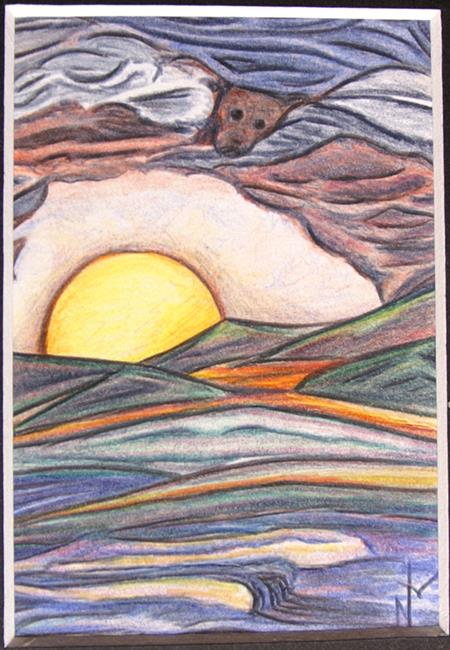 Art: Lost Dog Days of Summer by Artist Nancy Barnes