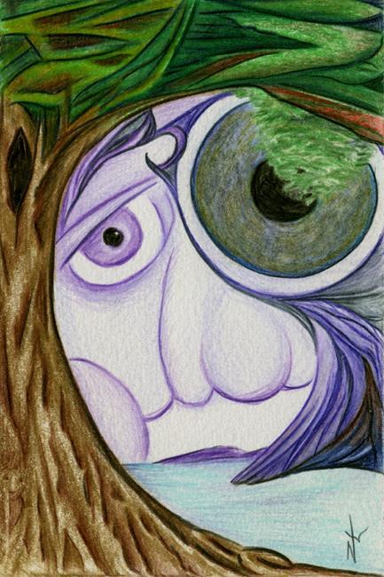 Art: Postcard #3 by Artist Nancy Barnes
