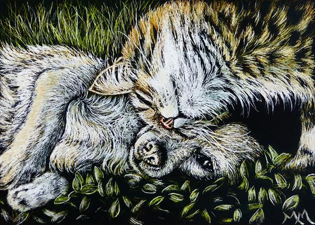 Art: Friendship (SOLD) by Artist Monique Morin Matson