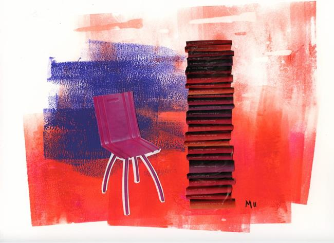 Art: Sit down and read a book by Artist Gabriele Maurus