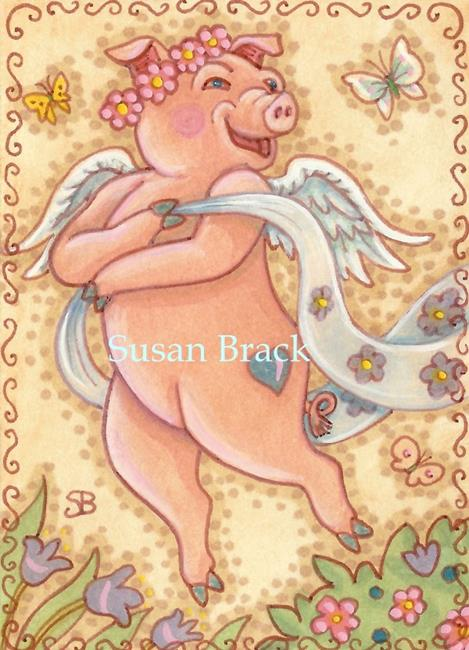 Art: HEAVENLY HOG by Artist Susan Brack