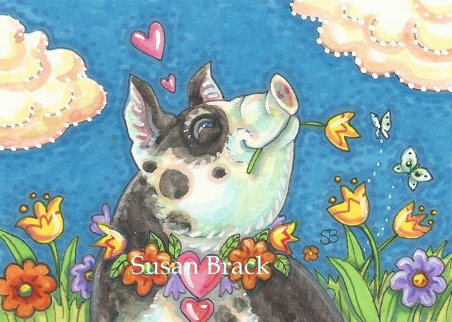 Art: PIG PERFECT DAY by Artist Susan Brack