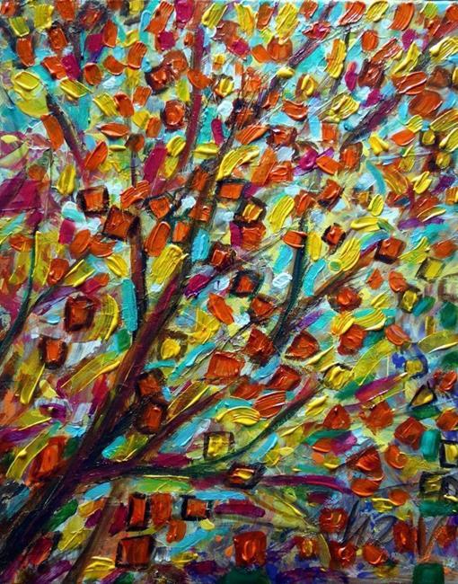 Art: Autumn Leaves . by Artist LUIZA VIZOLI