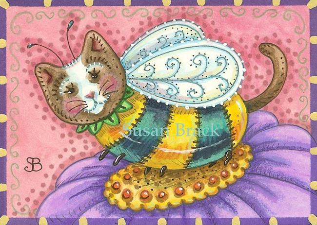 Art: BUMBLECAT BUZZPURRS by Artist Susan Brack
