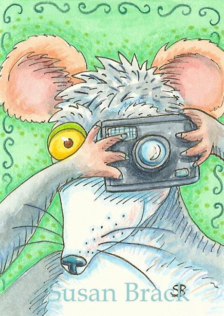 Art: HISS N FITZ Rat - SAYCHEEEESE by Artist Susan Brack