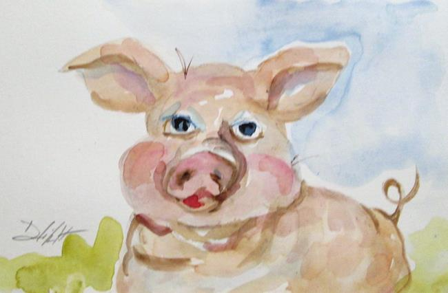 Art: Pig No. 13 by Artist Delilah Smith