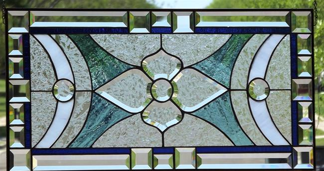Art: -Angel -Beveled Stained Glass Window Panel • by Artist Chris Gleim