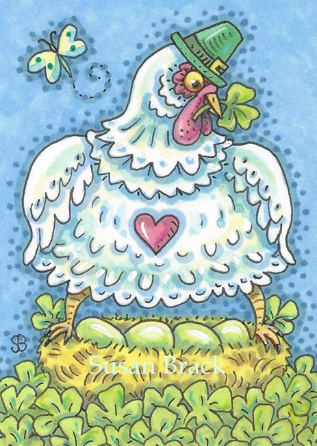 Art: IRISH HEN by Artist Susan Brack