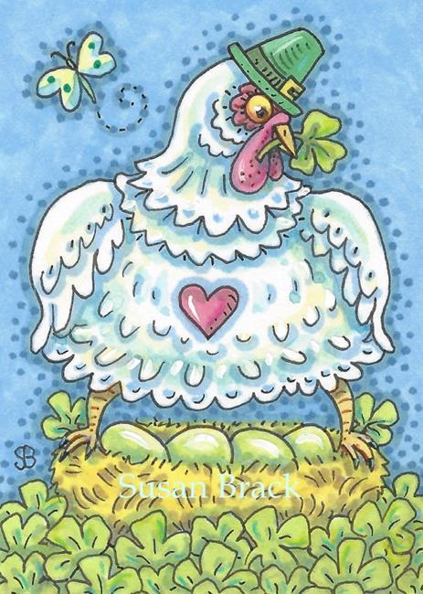 Art: IRISH HEN by Artist Susan Brack