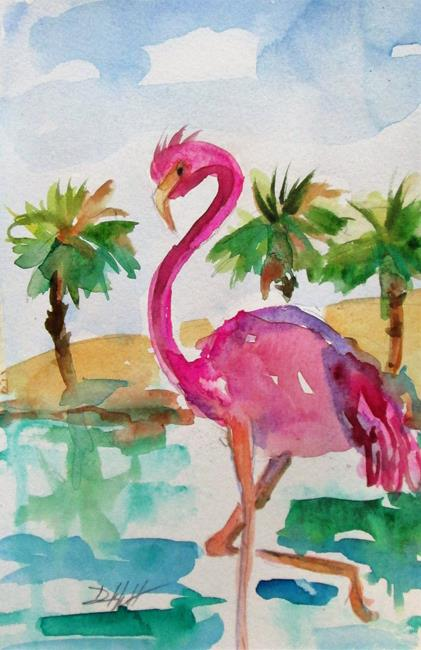 Art: Tropical Flamingo by Artist Delilah Smith