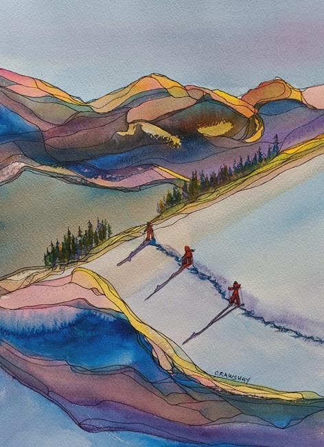 Art: Long Winter Shadows (sold) by Artist Kathy Crawshay
