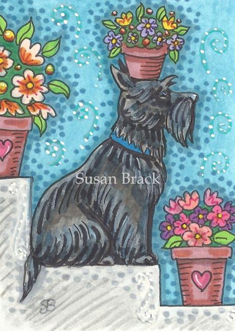 Art: SIT - Scottie by Artist Susan Brack