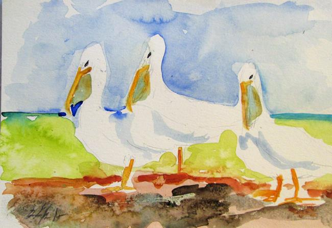 Art: Pelican No. 8 by Artist Delilah Smith