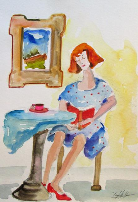 Art: Girl Reading by Artist Delilah Smith