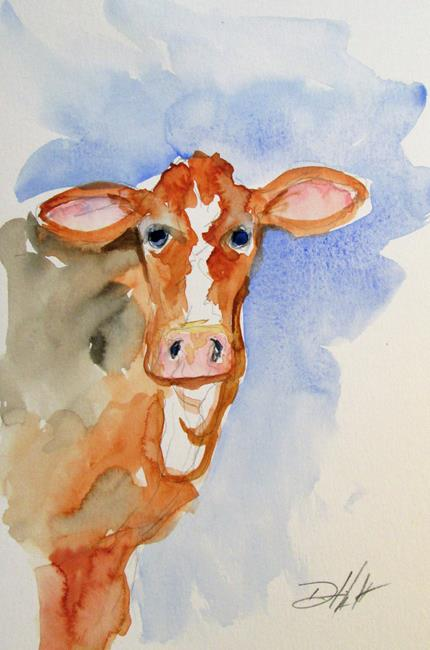 Art: Brown Cow No. 3 by Artist Delilah Smith
