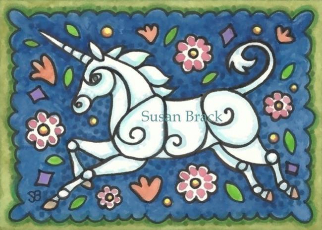 Art: UNICORN OF OLDE by Artist Susan Brack