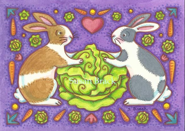 Art: RABBIT SALAD 3 by Artist Susan Brack