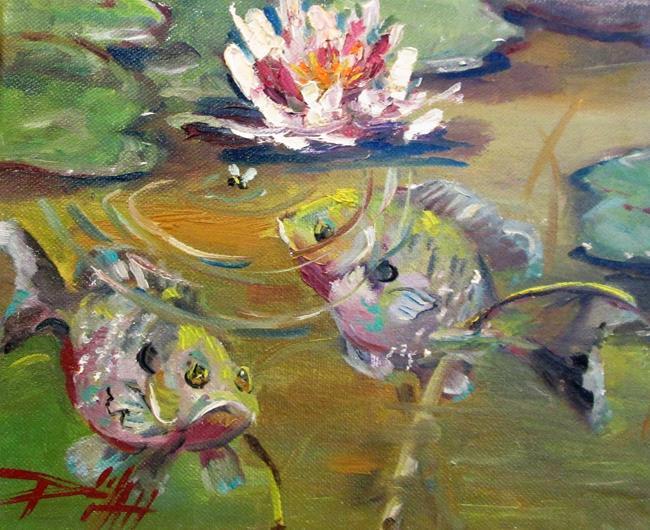 Art: Bluegill Pond by Artist Delilah Smith