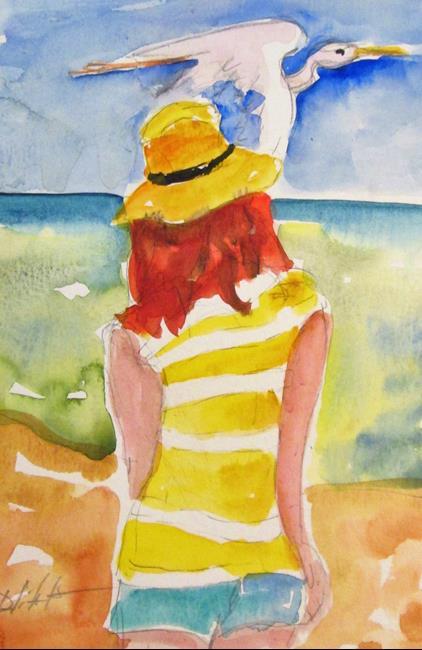 Art: Beach Walker by Artist Delilah Smith