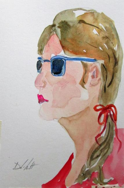 Art: Girl with Sunglasses by Artist Delilah Smith