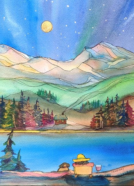 Art: The Peaceful Hour (sold) by Artist Kathy Crawshay