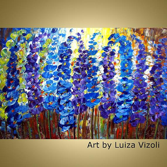 Art: BLUE GARDEN by Artist LUIZA VIZOLI
