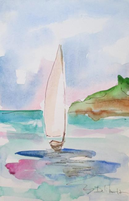 Art: Sailboat No. 15 by Artist Delilah Smith