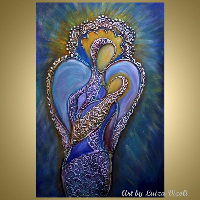 Art: ANGELS MOTHER and CHILD by Artist LUIZA VIZOLI