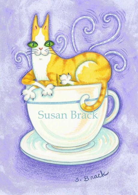 Art: HISS N' FITZ - AHHH LOVE MY COFFEE by Artist Susan Brack
