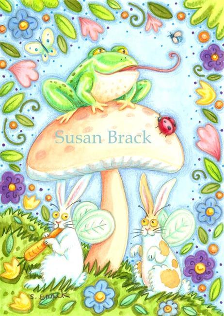 Art: FLUTTERBUNS - EDGE OF THE WOODS by Artist Susan Brack